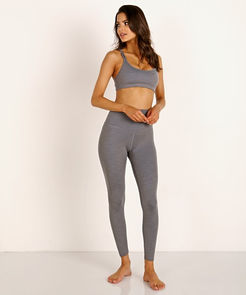 Beyond Yoga Heather Rib Midi High Waisted Legging Gray Heather Hr3243 Free Shipping At Largo Drive