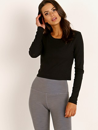 Beyond Yoga Keep in Line Cropped Pullover Black