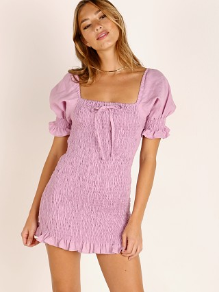 Faithfull the Brand Annibelis Mini Dress Plain Iris