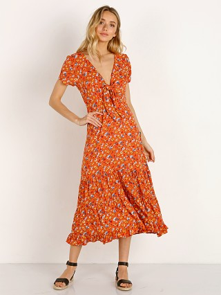 Auguste the Label Agnes Fleur Midi Dress Rust