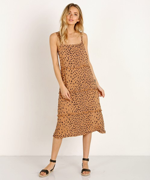 Auguste the Label Safari Poolside Slip Midi Dress Leopard