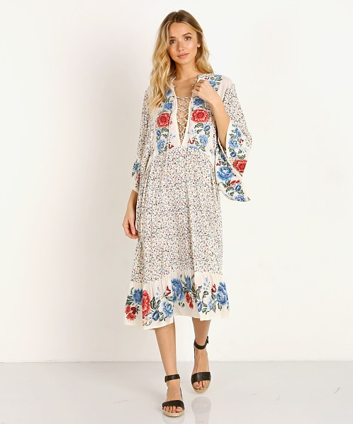 Auguste the Label Rosalie Mae Sleeved Midi Dress Natural