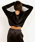 Onzie Velour Top Black, view 4