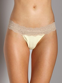 Cosabella Ever Low Rise Thong Vanilla Chai