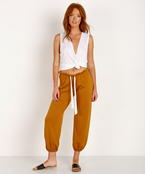 Eberjey Winter Heather Cropped Pant Burnt Amber