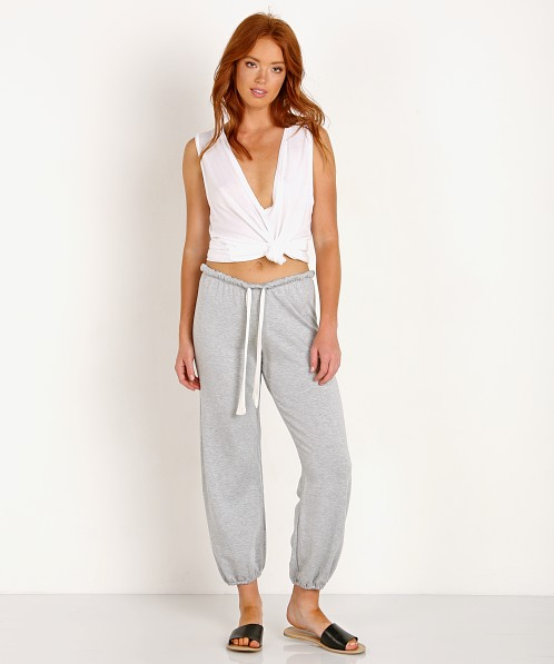 Eberjey Winter Heather Cropped Pant Heather Grey