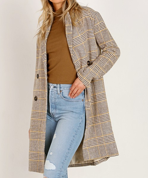 Sage the Label Clemence Jacket Beige Plaid