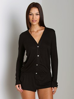 Eberjey Jessies Girl Long Sleeve Teddy Black
