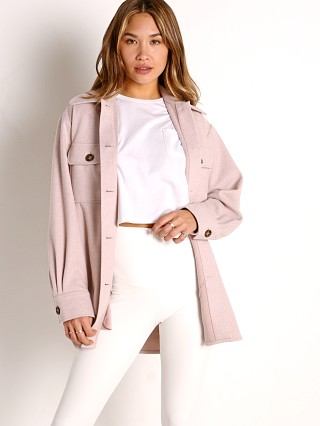 Model in pale pink BB Dakota That's Just It Jacket