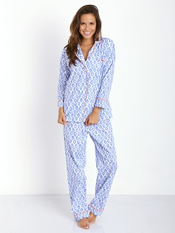 Marigot Pajama Set Blueberry Ikat
