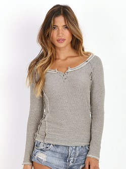 Free People Rag Tag Henley Army Light Green