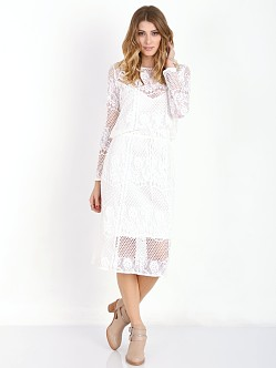 Free People Luna Lace Dress Ivory