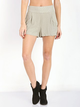Free People Printed Sheilas Short Light Olive