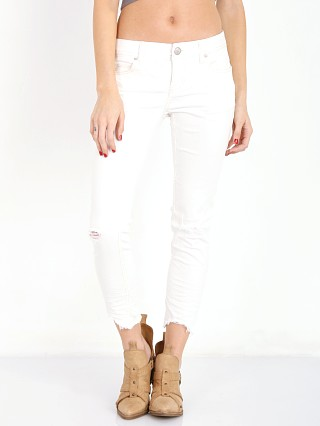 Free People Mid Rise Cropped Hong Kong White