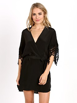 Stone Cold Fox Fox Robe Black