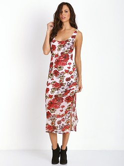 Winston White Bouquet de Fleur Miranda Dress Black Cherry