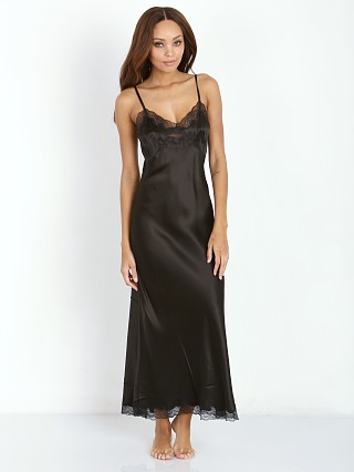 Only Hearts Silk Charmeuse Long Slip Black