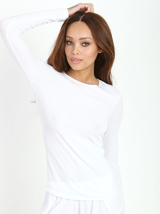 Only Hearts Feather Rib Long Sleeve White