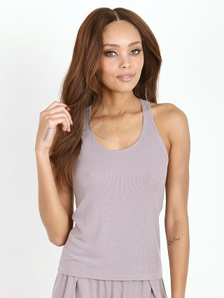 Only Hearts Feather Rib Muscle Tee Grey Pearl