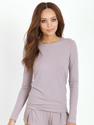 Only Hearts Feather Rib Long Sleeve Grey Pearl