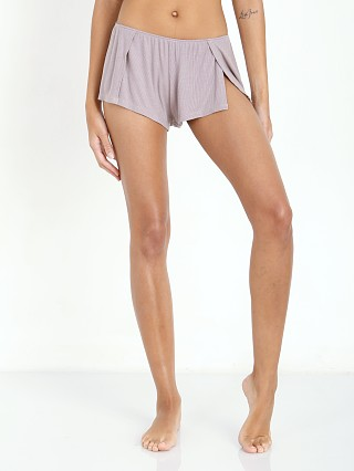 Only Hearts Feather Rib Sleep Shorts Grey Pearl