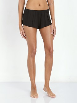 Only Hearts Feather Rib Sleep Shorts Black