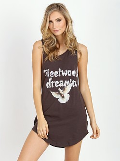 Spell Fleetwood Tee Dress Black Charcoal