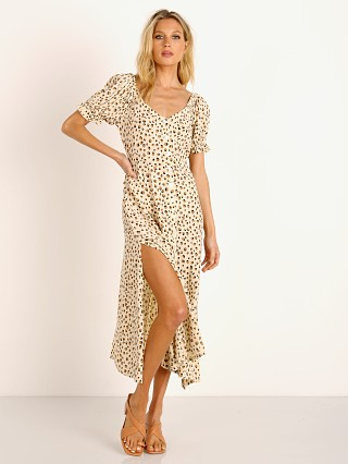 KIVARI Valentina Button Front Midi Dress Leopard