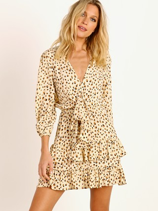 KIVARI Valentina Tie Front Mini Dress Leopard