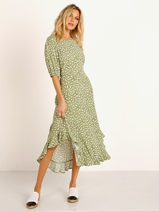 KIVARI Gracie High Neck Midi Dress Floral