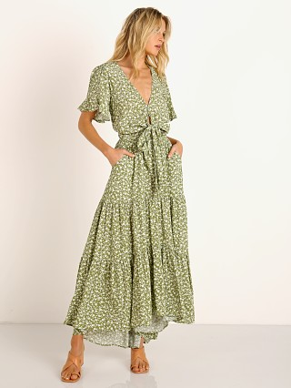 KIVARI Gracie Tie Front Maxi Dress Floral