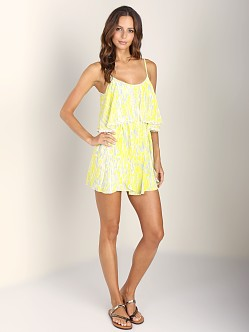 Lovers + Friends Aries Dress Abstract Yellow