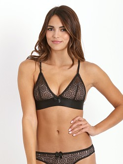 Stella McCartney Clementina Twinkling Soft Cup Bra Black/Camel