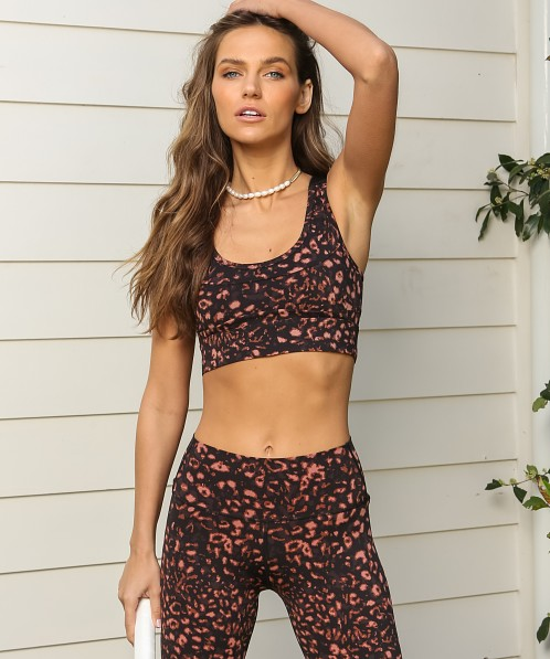 Varley Edris Sports Bra Red Animal