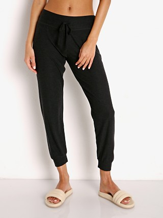 Model in darkest night Beyond Yoga Featherweight Spacedye Lounge Jogger