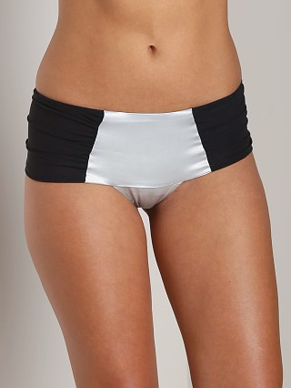 Complete the look: Noe Undergarments Ryan Brazilian Panty Silver