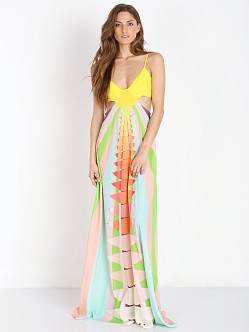 Mara Hoffman Cut Out Maxi Dress Beams Yellow