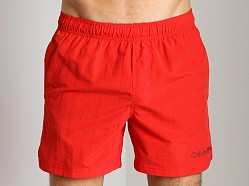 Calvin Klein Drawstring Swim Trunk Fiery Red