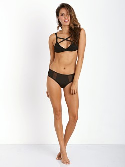 SKIVVIES by For Love & Lemons Erotica Hipster Brief Black