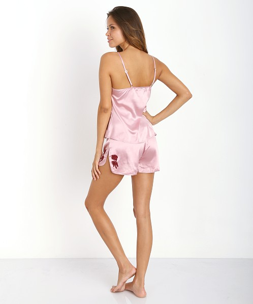 SKIVVIES by For Love & Lemons Le Fleur Night Top Dusty Rose