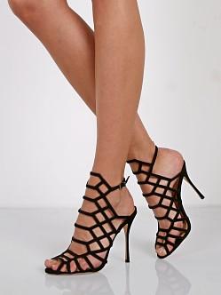 Schutz Patent Leather Cage Sandals