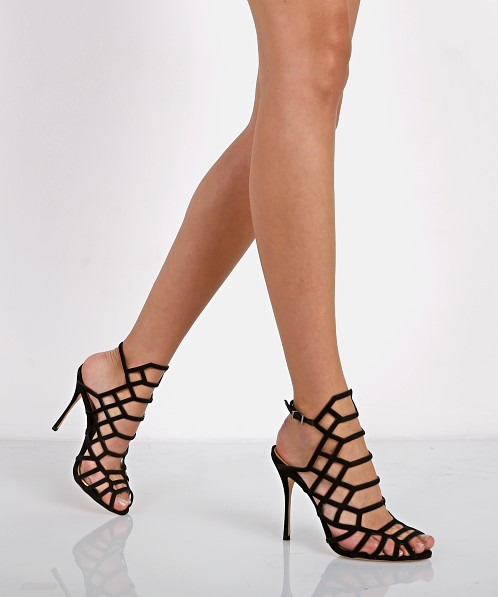 7679a89ca1 Schutz Juliana Caged Sandals Black 2042 0143 0001 0553 - Free Shipping at  Largo Drive