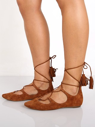 Schutz Yasu Lace Up Flat Wood