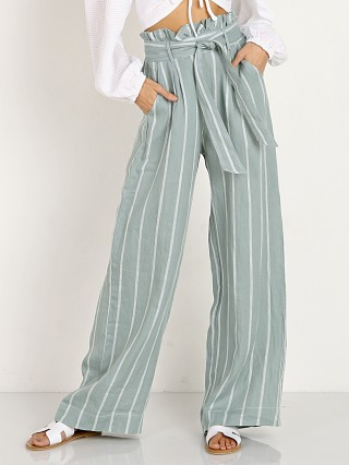 Suboo Horizon Wide Leg Pant Green/White