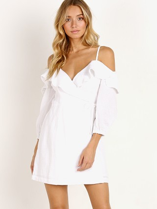 Suboo Together Again Wrap Mini Dress White