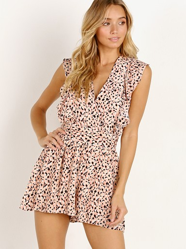 Suboo Halcyon Ruffle Playsuit Leopard