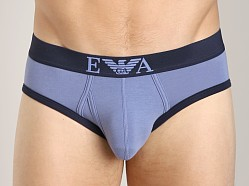 Emporio Armani Contrast Stretch Cotton Brief Lead Grey