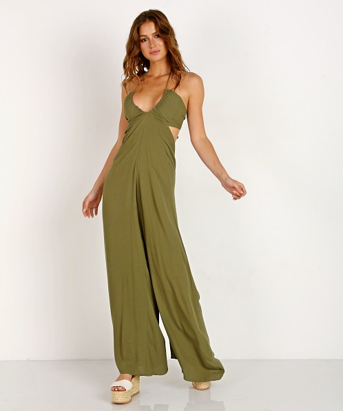 ea5709bde Indah Jagger Flare Jumpsuit Olive JAGGER-SF18 - Free Shipping at Largo Drive