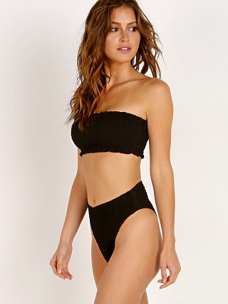 Complete the look: Indah Gili Smocked Bandeau Top Black