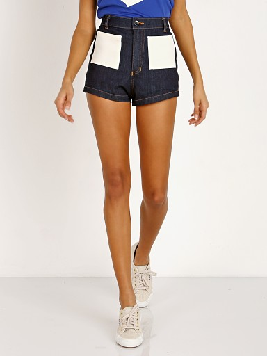 Model in denim Sugarhigh Lovestoned Woody Short